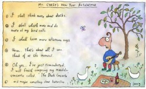 Leunig new year resolutions